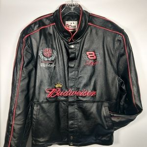 Dale Earnhardt Jr leather Budweiser jacket L/XL